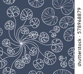 grey and white seamless pattern ... | Shutterstock .eps vector #578968879