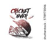 creative helmet for cricket... | Shutterstock .eps vector #578973046
