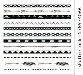 black abstract tribal... | Shutterstock .eps vector #578974066