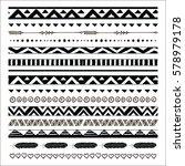black abstract tribal... | Shutterstock . vector #578979178