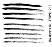set of different grunge brush... | Shutterstock .eps vector #578984044