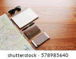 map travel trip destination...   Shutterstock . vector #578985640