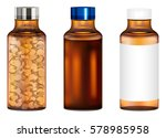 real amber glass medicine pills ... | Shutterstock .eps vector #578985958