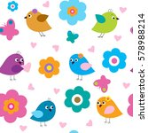 seamless pattern with a cute...   Shutterstock .eps vector #578988214