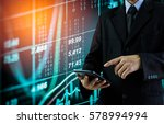 double exposure business man on ...   Shutterstock . vector #578994994