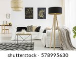 trendy living room with white... | Shutterstock . vector #578995630