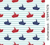 kids vector seamless pattern... | Shutterstock .eps vector #578997478