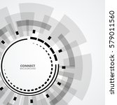technology circle design | Shutterstock .eps vector #579011560