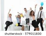 business colleagues having... | Shutterstock . vector #579011830