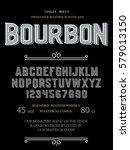 typeface. label. bourbon... | Shutterstock .eps vector #579013150