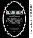 typeface. label. bourbon... | Shutterstock .eps vector #579013180