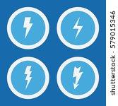 lightning flash icons in blue... | Shutterstock .eps vector #579015346