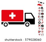 service car pictograph with... | Shutterstock .eps vector #579028060