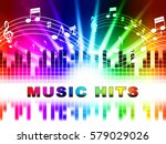 music hits design showing sound ...   Shutterstock . vector #579029026