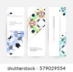 memphis geometric background... | Shutterstock .eps vector #579029554