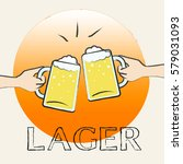 lager beer glasses shows public ... | Shutterstock . vector #579031093