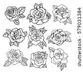 Flower Rose  Black And White....