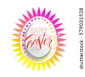 holiday greetings easter vector ... | Shutterstock .eps vector #579031528