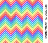 simple rainbow colors seamless... | Shutterstock .eps vector #579032638