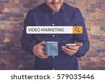 video marketing concept   Shutterstock . vector #579035446
