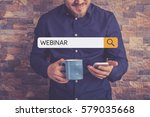 webinar concept | Shutterstock . vector #579035668