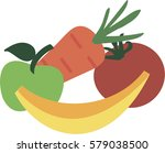 vegetables and fruits | Shutterstock .eps vector #579038500