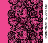 seamless lace border. vector... | Shutterstock .eps vector #579041530
