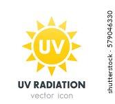 uv radiation icon over white | Shutterstock .eps vector #579046330
