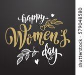 women day greeting card text... | Shutterstock .eps vector #579048580