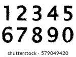 grunge numbers set. vector...   Shutterstock .eps vector #579049420