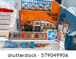 island santorini  greece   may...   Shutterstock . vector #579049906