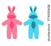 romper suit. rompers with ears. ... | Shutterstock .eps vector #579050608