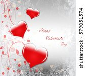happy valentine's day... | Shutterstock . vector #579051574