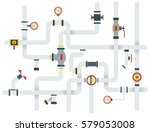 stock vector ware pipes system... | Shutterstock .eps vector #579053008