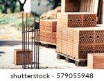 industrial construction site ... | Shutterstock . vector #579055948