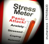 stress meter thermometer... | Shutterstock . vector #579058630