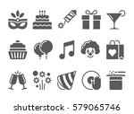 celebration icons and party... | Shutterstock .eps vector #579065746