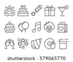 party and birthday line icon | Shutterstock .eps vector #579065770