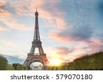 view on eiffel tower through... | Shutterstock . vector #579070180