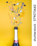 colorful party attributes fly... | Shutterstock . vector #579073660