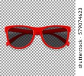 red sun glasses isolated on... | Shutterstock .eps vector #579074623