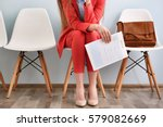 young woman waiting for... | Shutterstock . vector #579082669