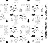 bear and forest pattern for...