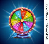 colorful fortune wheel.... | Shutterstock .eps vector #579090970