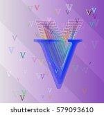 alphabet v template design | Shutterstock .eps vector #579093610