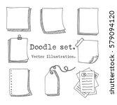 hand drawn vector set of paper... | Shutterstock .eps vector #579094120