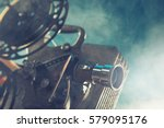 old style movie projector ... | Shutterstock . vector #579095176