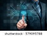 artificial intelligence  ai  ... | Shutterstock . vector #579095788