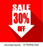 flat design red square sale... | Shutterstock .eps vector #579096760