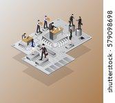 mainboard computer business ...   Shutterstock .eps vector #579098698